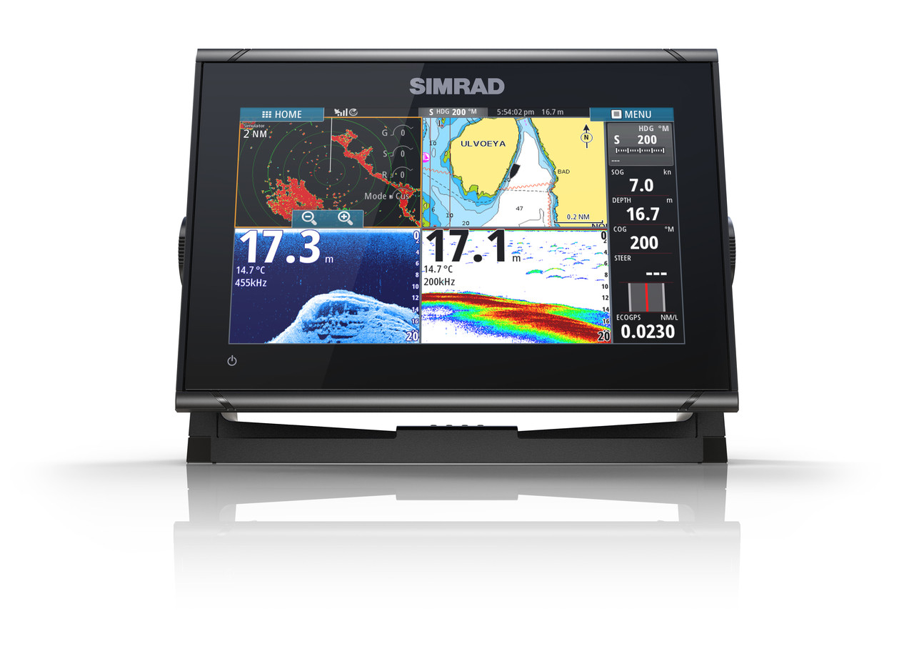 Simrad GO9 XSE Multifunction Display Front View