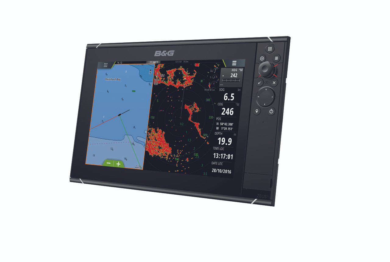 B&G Zeus³ 12 Multifunction Display Right View