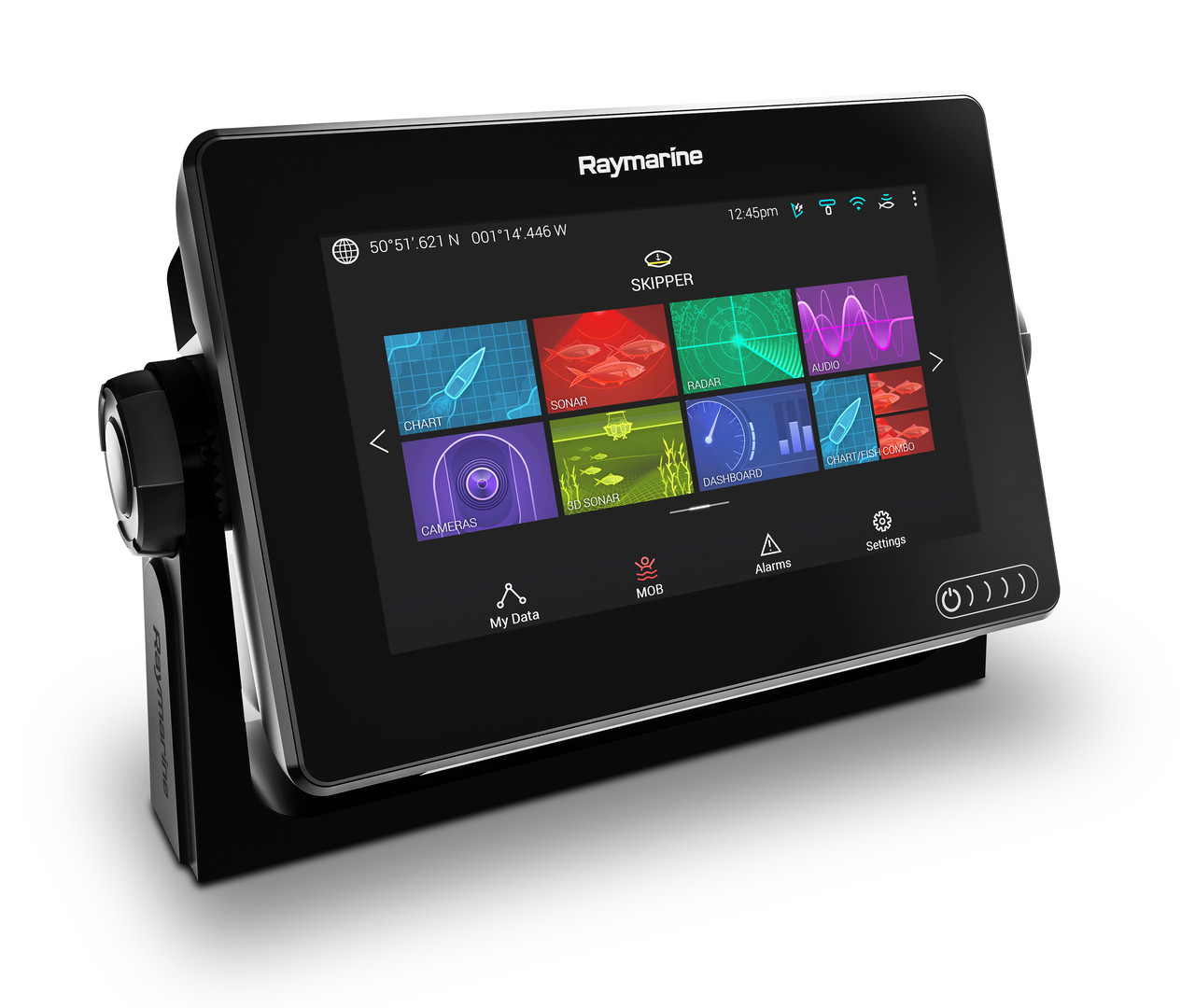 Raymarine Axiom 7 Multifunction Display Left Angle View