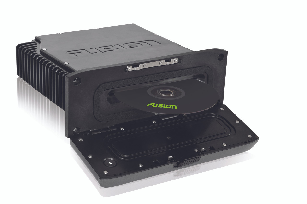 Fusion AV650 Marine Entertainment System Top Down Right View