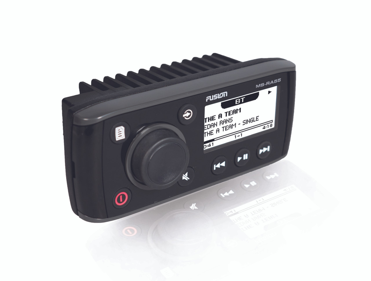 Fusion MS-RA55 Compact Marine Stereo Left View