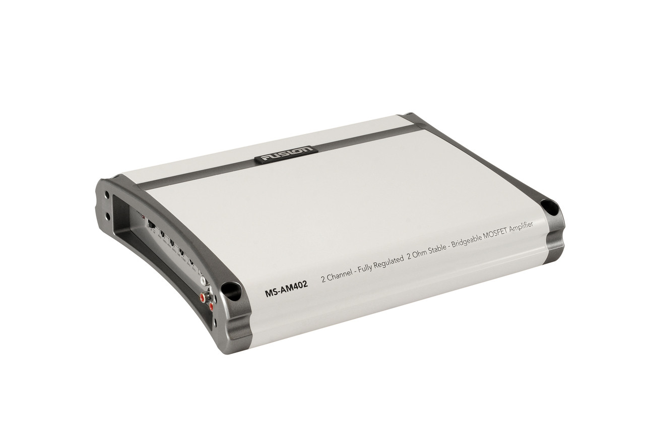 Fusion MS-AM402 2 Channel Marine Amplifier Side Left