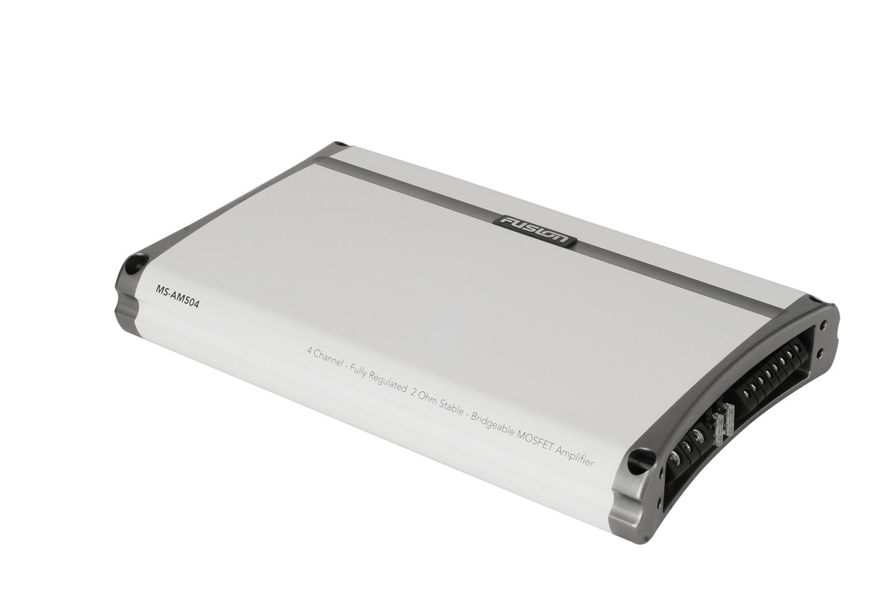 Fusion MS-AM504 4 Channel Marine Amplifier Side Right View