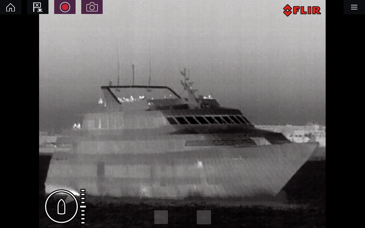Raymarine M132 Thermal IP Camera Boat Screenshot