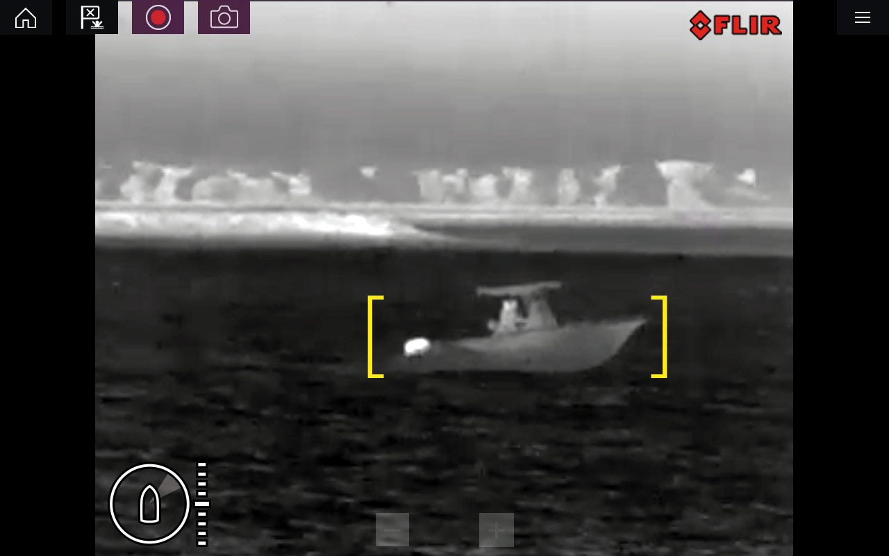 Raymarine M132 Thermal IP Camera Active Alert Screenshot