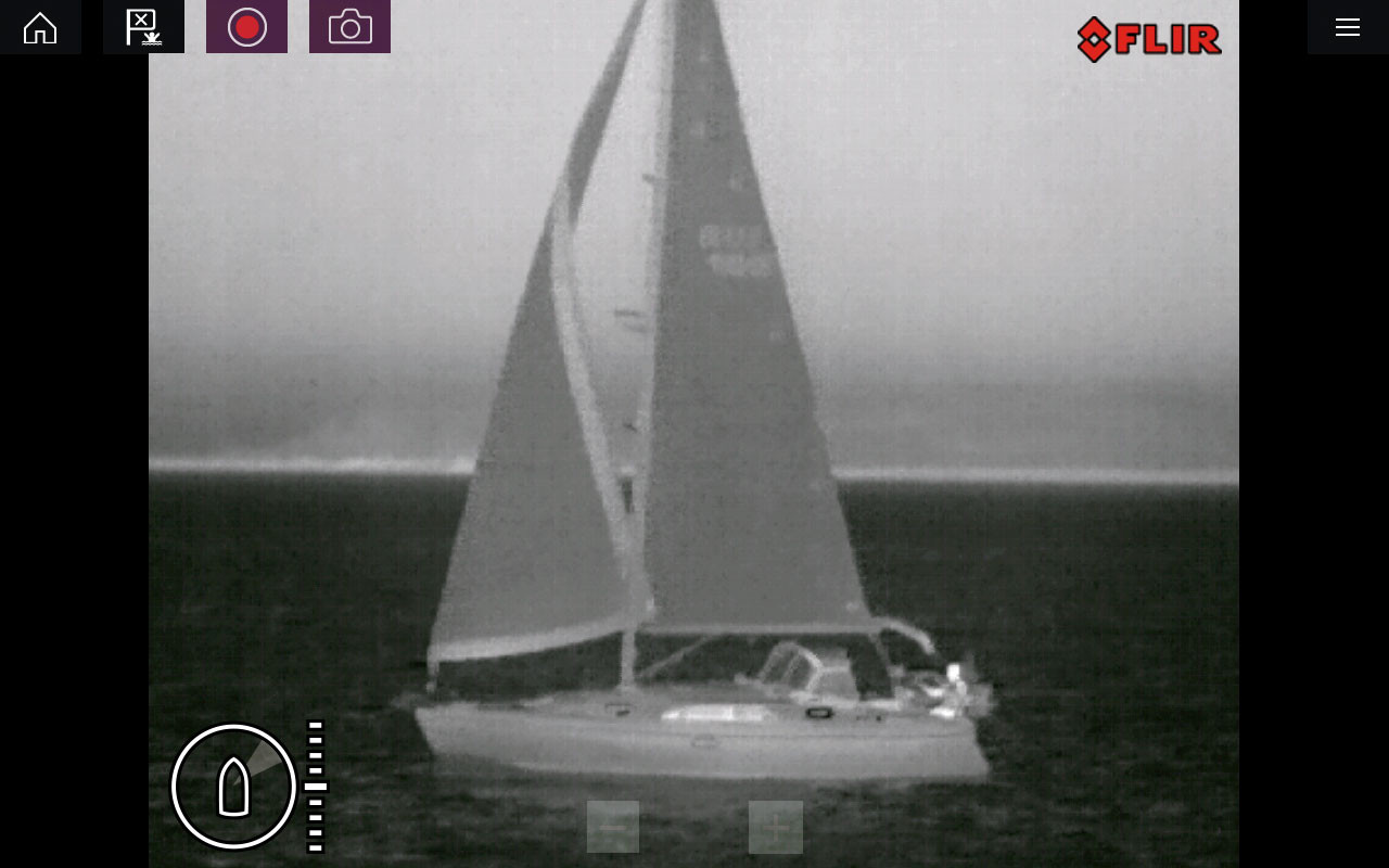 Raymarine M132 Thermal IP Camera Sailboat Screenshot