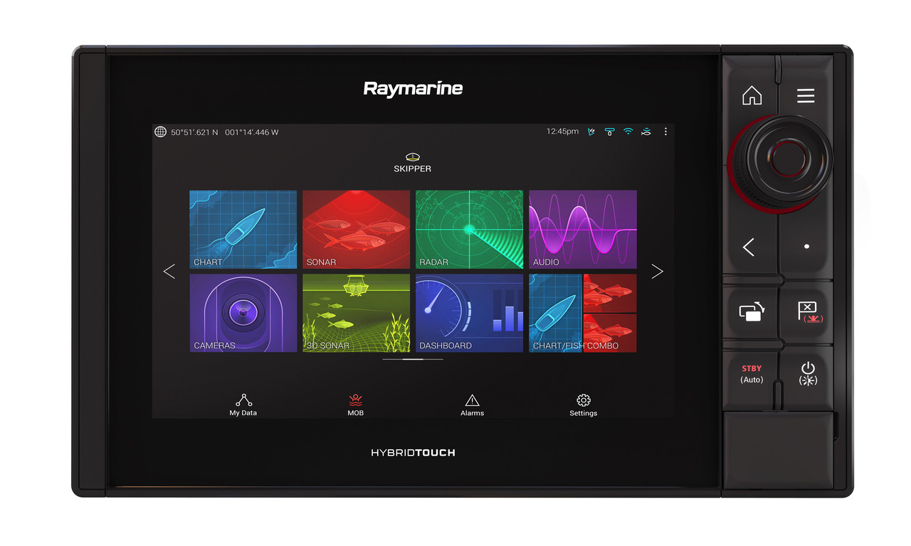 Raymarine Axiom Pro 9 RVX Multifunction Display Front View