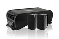 Fusion MS-AB206 Active Subwoofer w/ Integrated 4 Channel Amplifier Angle