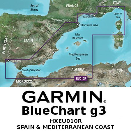 Garmin HXEU010R - Mediterranean Sea, Genova-Ayamonte