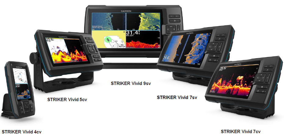 Garmin Striker Vivid Range