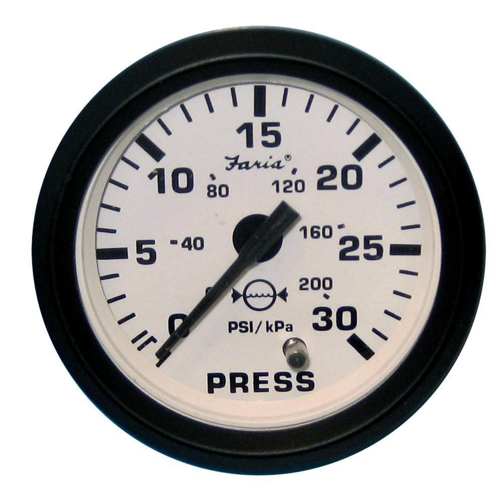 "Faria Kronos 2/"" Water Pressure Gauge Kit 30 PSI 19007"