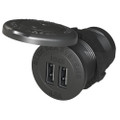 "Blue Sea 1045 12\/24V Dual USB Charger - 1-1\/8"" Socket Mount [1045]"