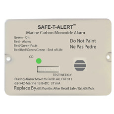 Safe-T-Alert 62 Series Carbon Monoxide Alarm w\/Relay - 12V - 62-542-Marine-RLY-NC - Flush Mount - White [62-542-MARINE-RLY-NC]
