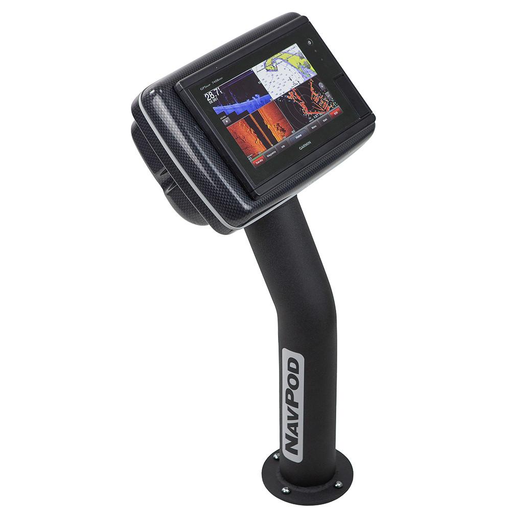 NavPod PED4800-20 PedestalPod Pre-Cut f/Garmin GPSMAP 7408, 7408xsv, 7608  7608xsv - Carbon Black [PED4800-20-C]