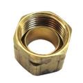 Uflex Brass Compression Nut w\/Sleeve #61CA-6 [71004K]