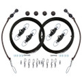 Rupp Double Rigging Kit w\/Nok-Outs - 320 Black Mono [CA-0026-MO]