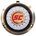 Shadow-Caster Cool Red Single Color Underwater Light - 16 LEDs - Bronze [SCR-16-CR-BZ-10]
