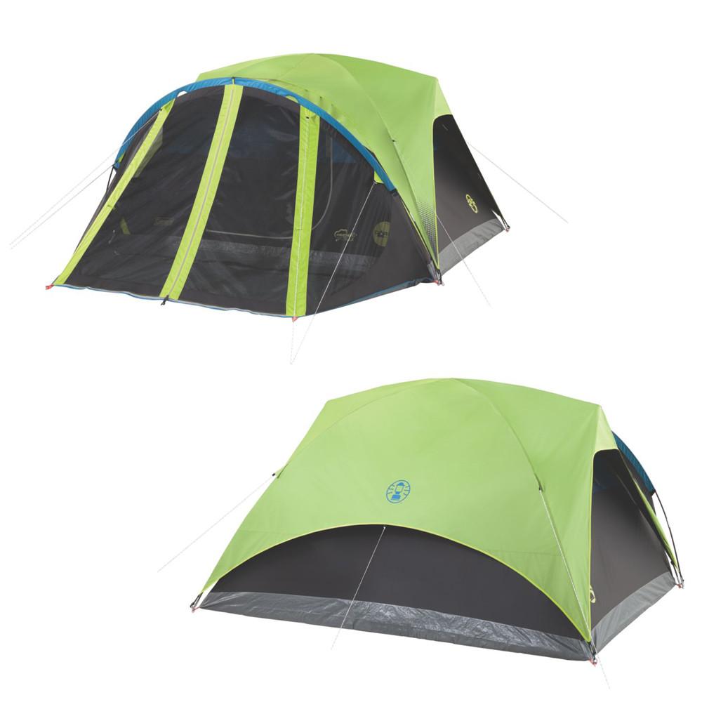 Camping Tents Orange Coleman 2000018086 9-Foot x 7-Foot 4 ...