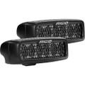 RIGID Industries SR-Q Series PRO Spot Diffused Midnight Surface Mount - Pair [905513BLK]