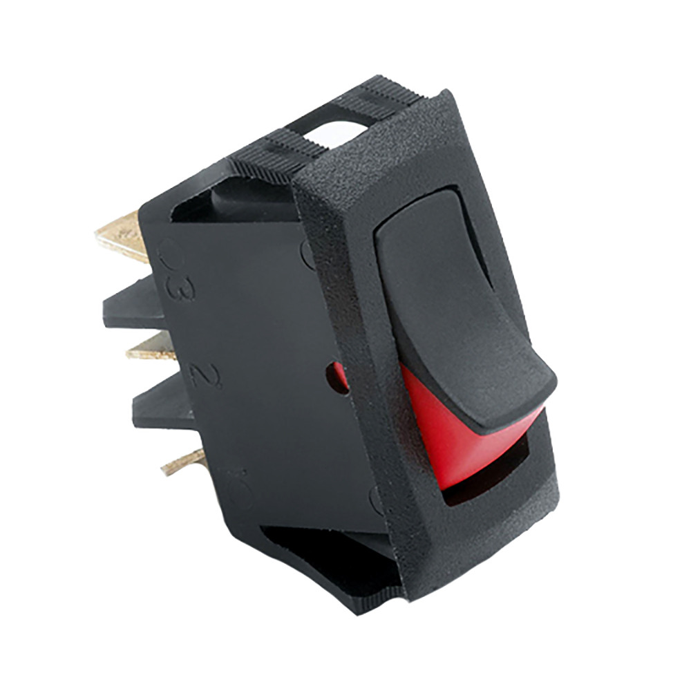 Cole Hersee Narrow Body Curved Rocker Switch SPST On-Off 3 Blade [54007-BP]