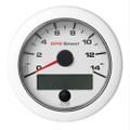 """VDO 3-3\/8"""" (85mm) OceanLink GPS Speedometer 0-14 - White Dial  Bezel [A2C1352010001]"""