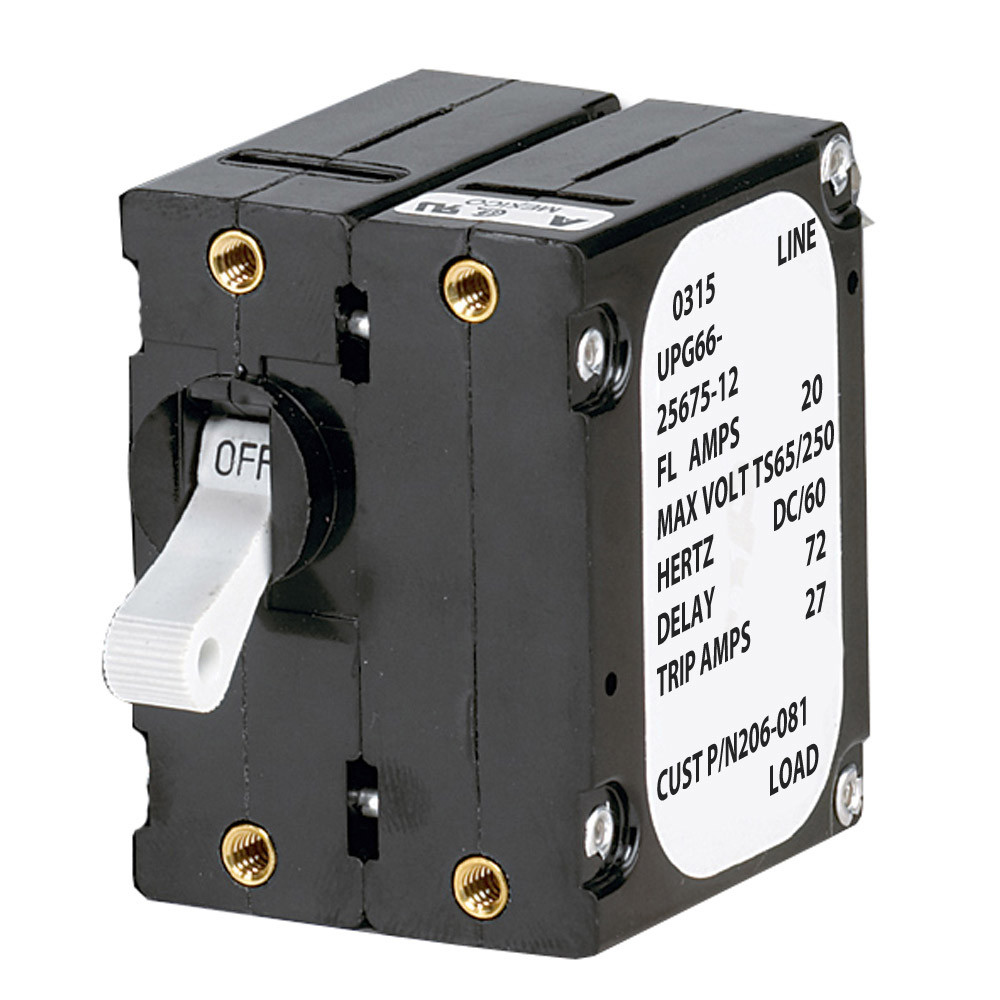 Paneltronics A Frame Magnetic Circuit Breaker 20 Amps Double Add Pole 206 081s