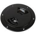 "Sea-Dog Smooth Quarter Turn Deck Plate - Black - 6"" [336165-1]"