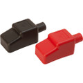 """Sea-Dog Battery Terminal Covers - Red\/Back - 1\/2"""" [415110-1]"""