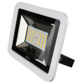 Lunasea 35W Slimline LED Floodlight, 120\/240VAC Only, Cool White, 4500 Lumens, 3 Cord - White Housing [LLB-36MN-41-00]
