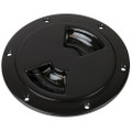 "Sea-Dog Quarter-Turn Smooth Deck Plate w\/Internal Collar - Black - 8"" [336385-1]"