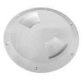 "Sea-Dog Quarter-Turn Textured Deck Plate w\/Internal Collar - White - 6"" [336362-1]"