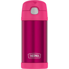Thermos FUNtainer Stainless Steel Insulated Pink Water Bottle w\/Straw - 12oz [F4019PK6]