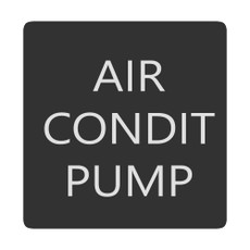 Blue Sea 6520-0030 Square Format Air Conditioner Pump Label [6520-0030]