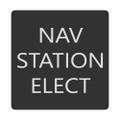 Blue Sea 6520-0321 Square Format Nav Station Elect Label [6520-0321]