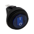 HEISE Rocker Switch - Illuminated Blue Round - 5-Pack [HE-BRS]