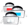 i2Systems Apeiron A1120 Spring Mount Light - Square\/Square - Red, Warm White  Blue - Polished Chrome [A1120Z-14HCE]