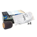 """KiwiGrip 4 - 1 Liter Pouches - Grey w\/4"""" Roller [KG-4GP-R]"""