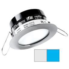 i2Systems Apeiron PRO A503 - 3W Spring Mount Light - Round - Cool White  Blue - Brushed Nickel Finish [A503-41AAG-E]