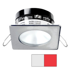 i2Systems Apeiron PRO A503 - 3W Spring Mount Light - Square\/Round - Cool White  Red - Brushed Nickel Finish [A503-42AAG-H]