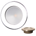 "Lunasea ""ZERO EMI Recessed 3.5 LED Light - White Stainless Trim - 12VDC [LLB-46WW-0A-SS]"