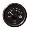 "VDO Marine 2-1\/16"" (52mm) ViewLine Transmission Oil Pressure 25 Bar\/350 PSI - 8-32V - Black Dial  Triangular Bezel [A2C59514139]"