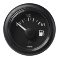 "VDO Marine 2-1\/16"" (52mm) ViewLine Fuel Level Gauge 0-1\/1 - 8-32V - 3-180 OHM - Black Dial  Round Bezel [A2C59514082]"