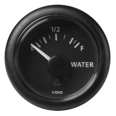 "VDO Marine 2-1\/16"" (52mm) ViewLine Fresh Water Resistive 0-1\/1 - 8-32V - 3-180 OHM - Black Dial  Round Bezel [A2C59514099]"