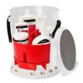 Shurhold 5 Gallon White Bucket Kit - Includes Bucket, Caddy, Grate Seat, Buff Magic, Pro Polish Brite Wash, SMC  Serious Shine [2465]