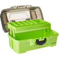 Plano 1-Tray Tackle Box w\/Dual Top Access - Smoke  Bright Green [PLAMT6211]