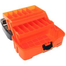 Plano 2-Tray Tackle Box w\/Dual Top Access - Smoke  Bright Orange [PLAMT6221]