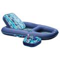 Aqua Leisure Ultimate 2-in-1 Lounge  Caddy - Hibiscus Flip [AQL4046HB2B]