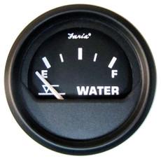 "Faria Euro Black 2"" Tank Level Gauge - Potable Water (Metric) [12831]"