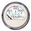 "Faria Chesapeake White SS 2"" Cylinder Head Temperature Gauge (60-220F) [13806]"