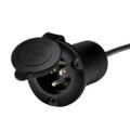 Guest AC Universal Plug Holder - Black [150PHB]